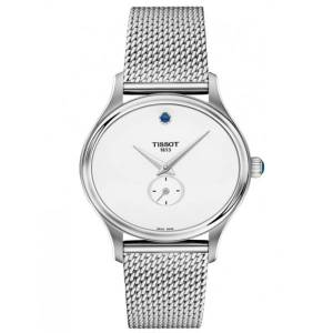 TISSOT Montre Tissot T-Lady Bella Ora quartz cadran argent bracelet maille milanaise 31,4 mm