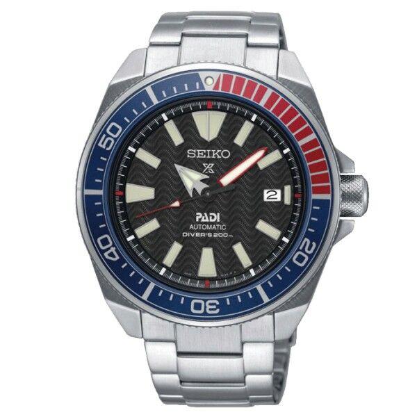 SEIKO Montre Seiko Prospex Mer Diver's Edition spéciale PADI automatique cadran noir bracelet acier 43,8 mm