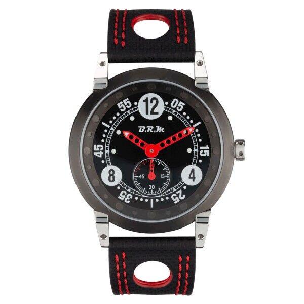 BRM Montre BRM FLT42 remontage manuel inox aiguilles rouges bracelet tissu technique 42 mm