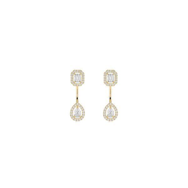 MESSIKA Boucles d'oreilles Messika My Twin Toi & Moi petit modèle en or jaune et diamants