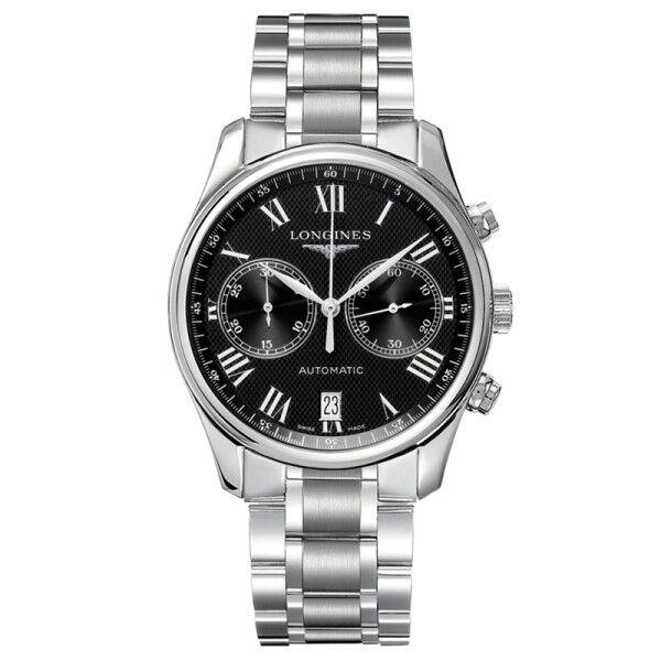 LONGINES Montre Longines Master Collection chronographe automatique cadran noir bracelet acier 40 mm