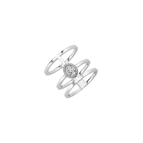 MESSIKA Bague Messika Glam'Azone 3 rangs en or blanc et diamants
