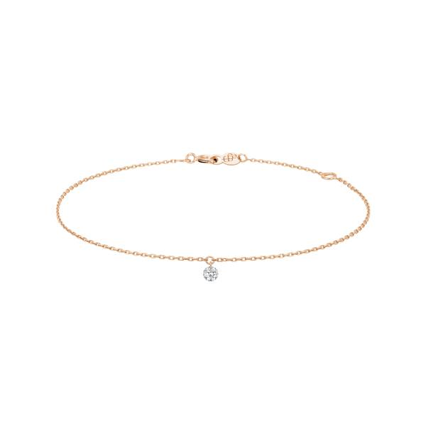 LA BRUNE ET LA BLONDE Bracelet La Brune et La Blonde 360° en or rose diamant taille brillant 0,20 carat