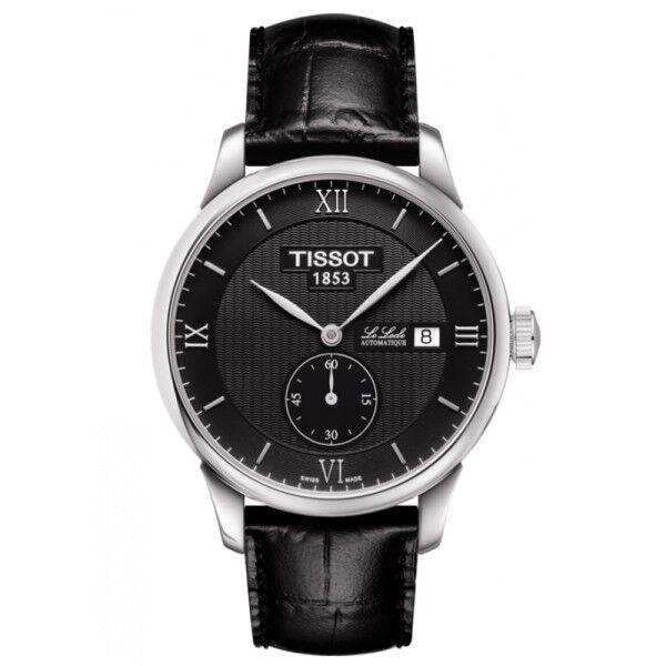TISSOT Montre Tissot T-Classic Le Locle automatique petite seconde cadran noir bracelet cuir noir 39,3 mm