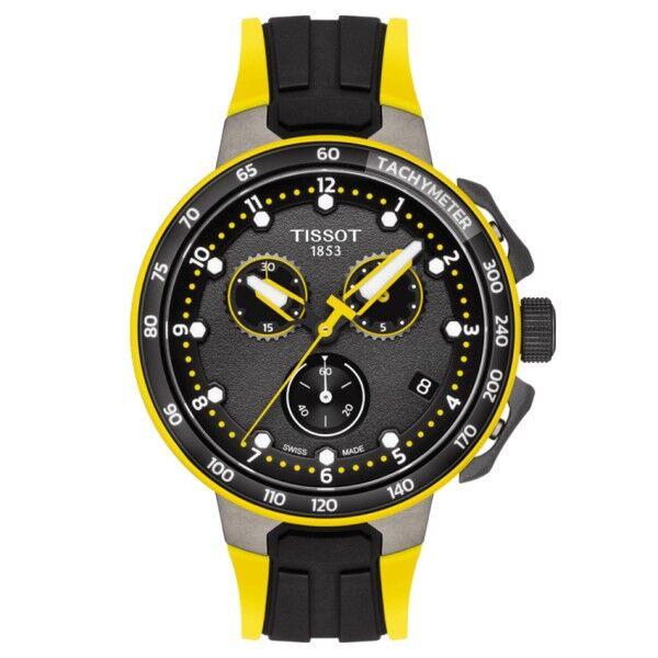 TISSOT Montre Tissot T-Race Cycling Chronograph quartz Tour de france 2019 noir et jaune 45 mm