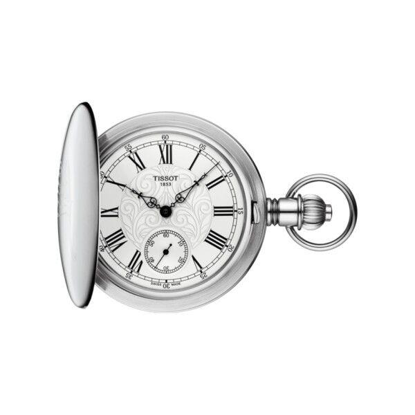 TISSOT Montre Tissot T-Pocket Savonnette Mechanical cadran argent chiffres romains 52 mm