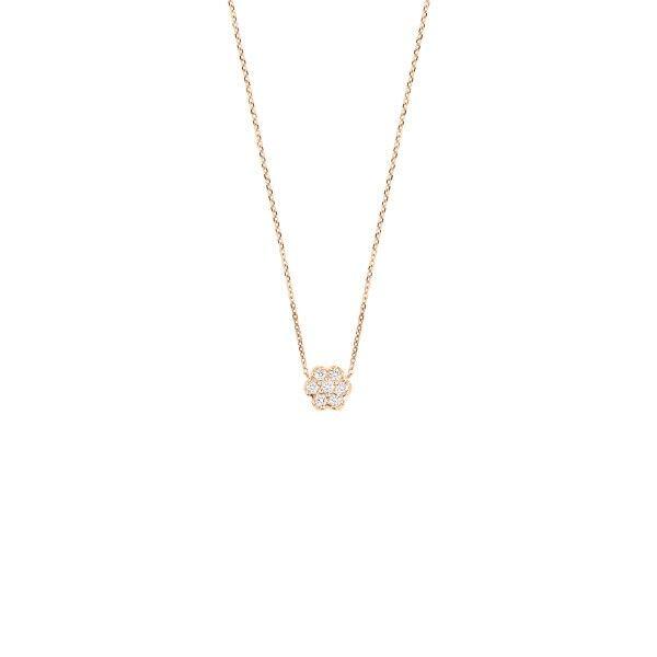 GINETTE NY Collier Ginette NY Mini Lotus en or rose et diamants
