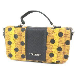 """Lollipops Sac pochette """"Lollipops"""" jaune noir - 26. 5x15x8 cm"""