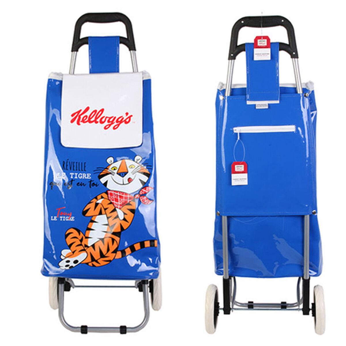 """Kellogg's Caddy de course / Chariot shopping """"Kellogg's"""" bleu - 95x36x31 cm"""