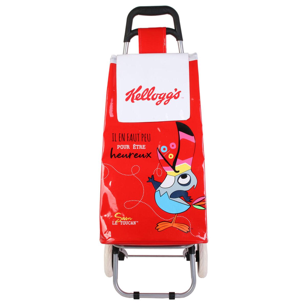 """Kellogg's Caddy de course / Chariot shopping """"Kellogg's"""" rouge - 95x36x31 cm"""