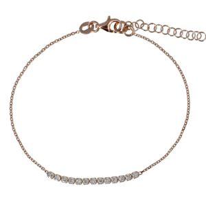 Les Poulettes Bijoux Bracelet Plaqué Or Rose et Strass