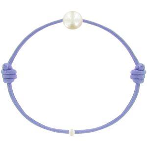 Les Poulettes Bijoux Bracelet Enfant La Perle Blanche des Petites Poulettes - Colors - Violet - Publicité