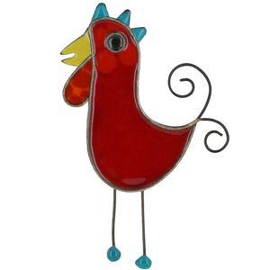 Les Poulettes Bijoux Broche Coq émaillée Rouge - Publicité