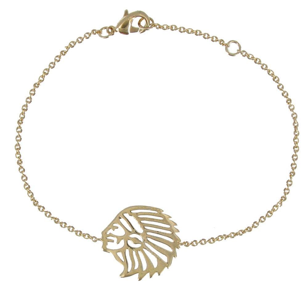 Les Poulettes Bijoux Bracelet Indien Plaqué Or