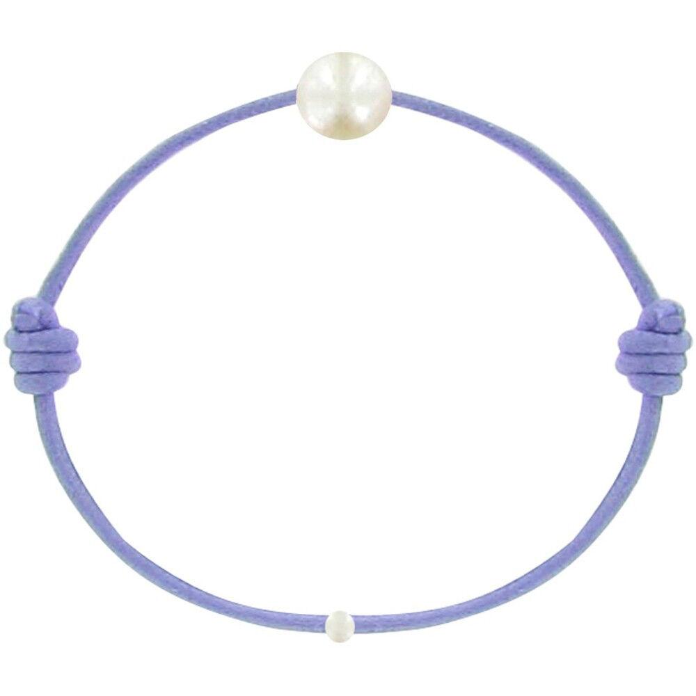 Les Poulettes Bijoux Bracelet Enfant La Perle Blanche des Petites Poulettes - Colors - Violet