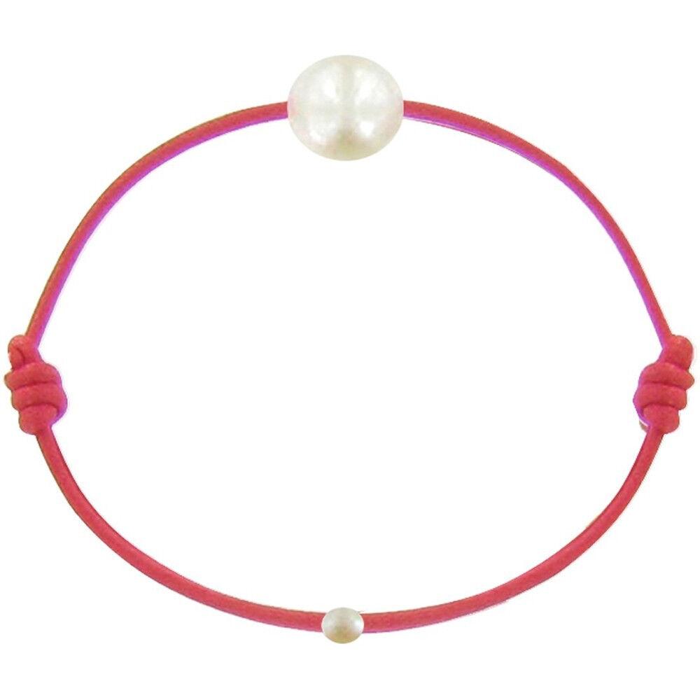 Les Poulettes Bijoux Bracelet Enfant La Perle Blanche des Petites Poulettes - Classics - Rouge