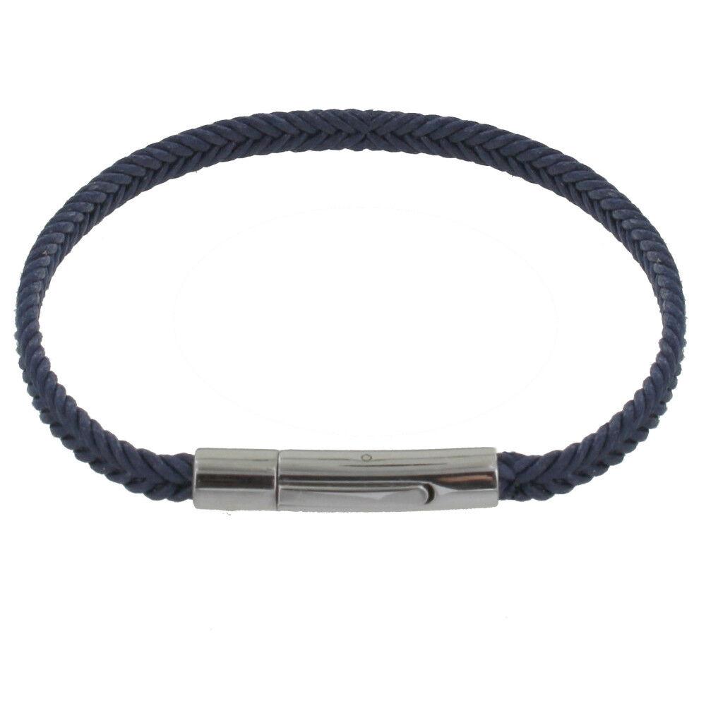 Les Poulettes Bijoux Bracelet Enfant Tresse en Coton Bleu Foncé