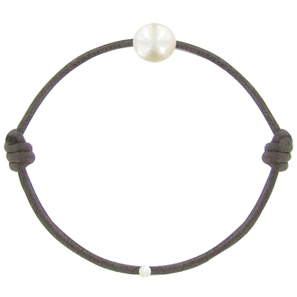 Les Poulettes Bijoux Bracelet Enfant La Perle Blanche des Petites Poulettes - Classics - Marron foncé