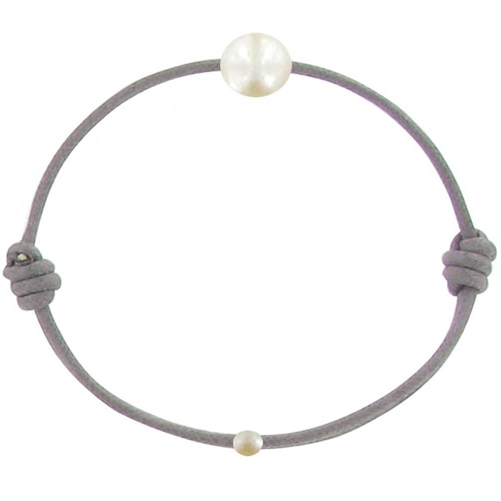 LES POULETTES BIJOUX Bracelet Enfant La Perle Blanche des Petites Poulettes - Classics - Gris