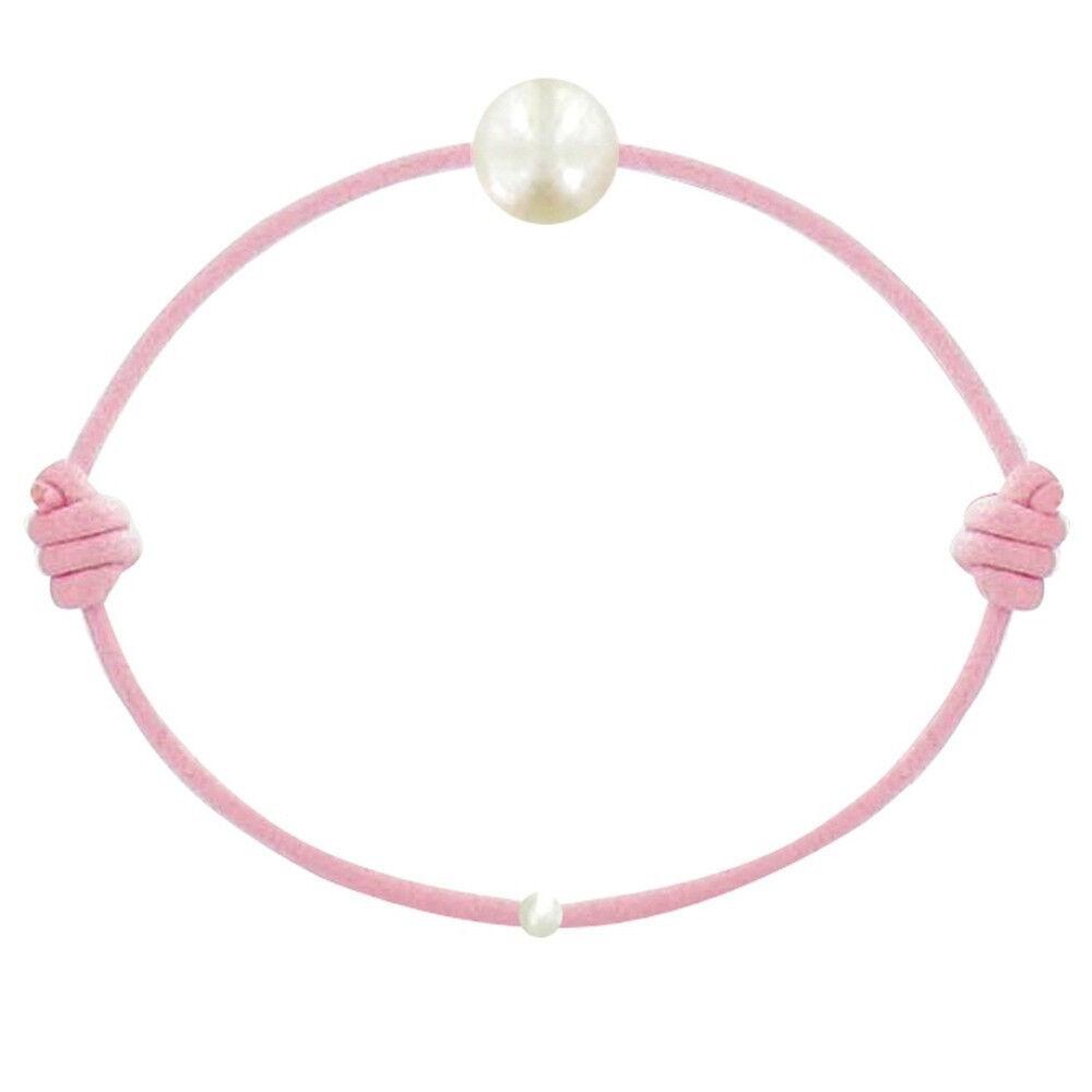 Les Poulettes Bijoux Bracelet Enfant La Perle Blanche des Petites Poulettes - Classics - Rose