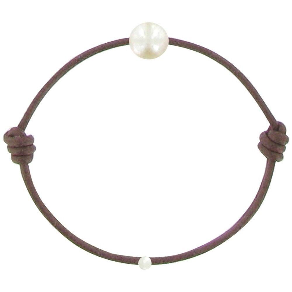 Les Poulettes Bijoux Bracelet Enfant La Perle Blanche des Petites Poulettes - Classics - Marron clair