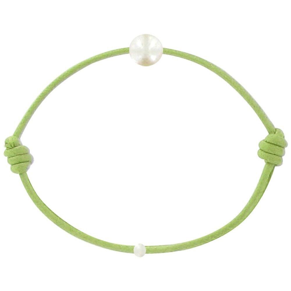 LES POULETTES BIJOUX Bracelet Enfant La Perle Blanche des Petites Poulettes - Colors - Vert