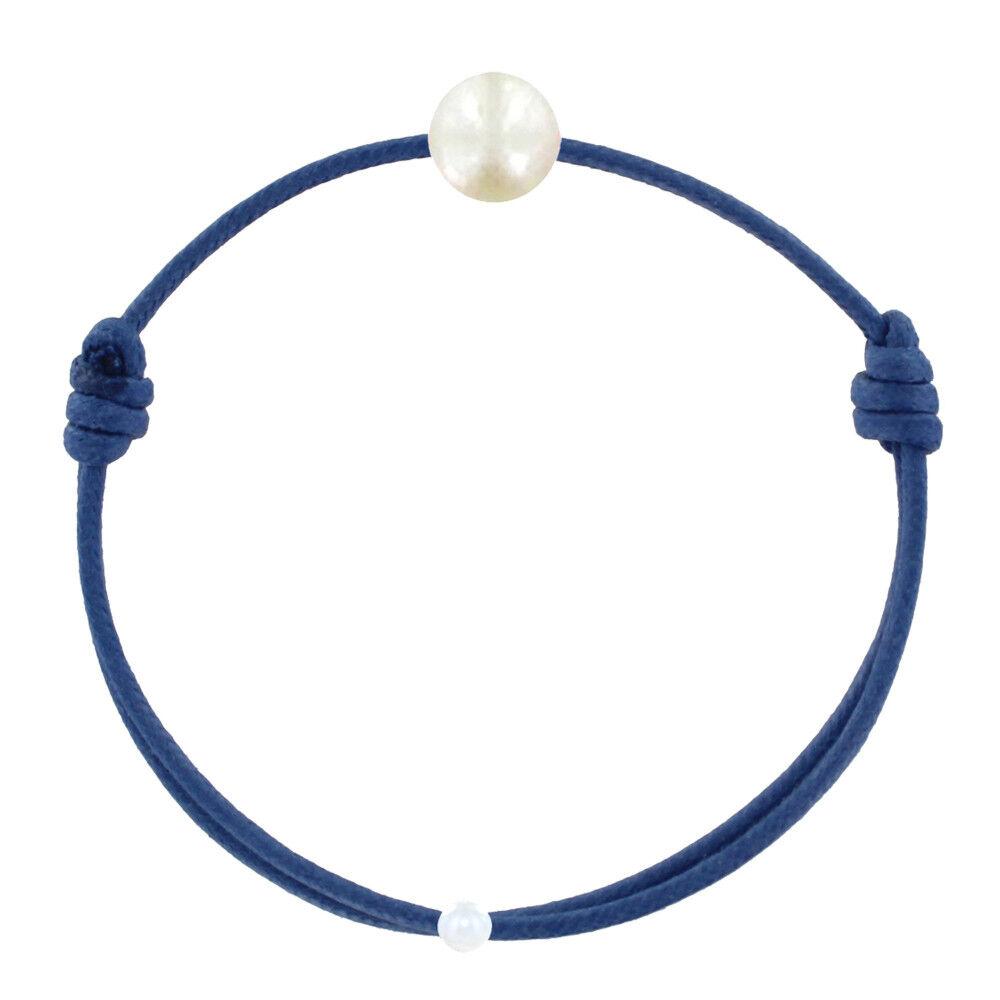 Les Poulettes Bijoux Bracelet Enfant La Perle Blanche des Petites Poulettes - Colors - Bleu Jean