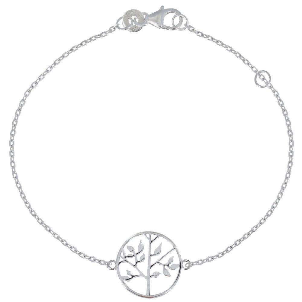 Les Poulettes Bijoux Bracelet Argent Rhodié Arbre de Vie
