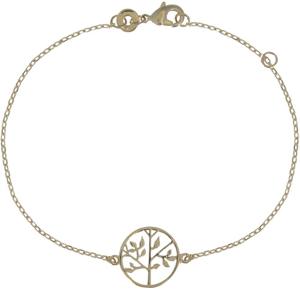 Les Poulettes Bijoux Bracelet Plaqué Or Arbre de Vie