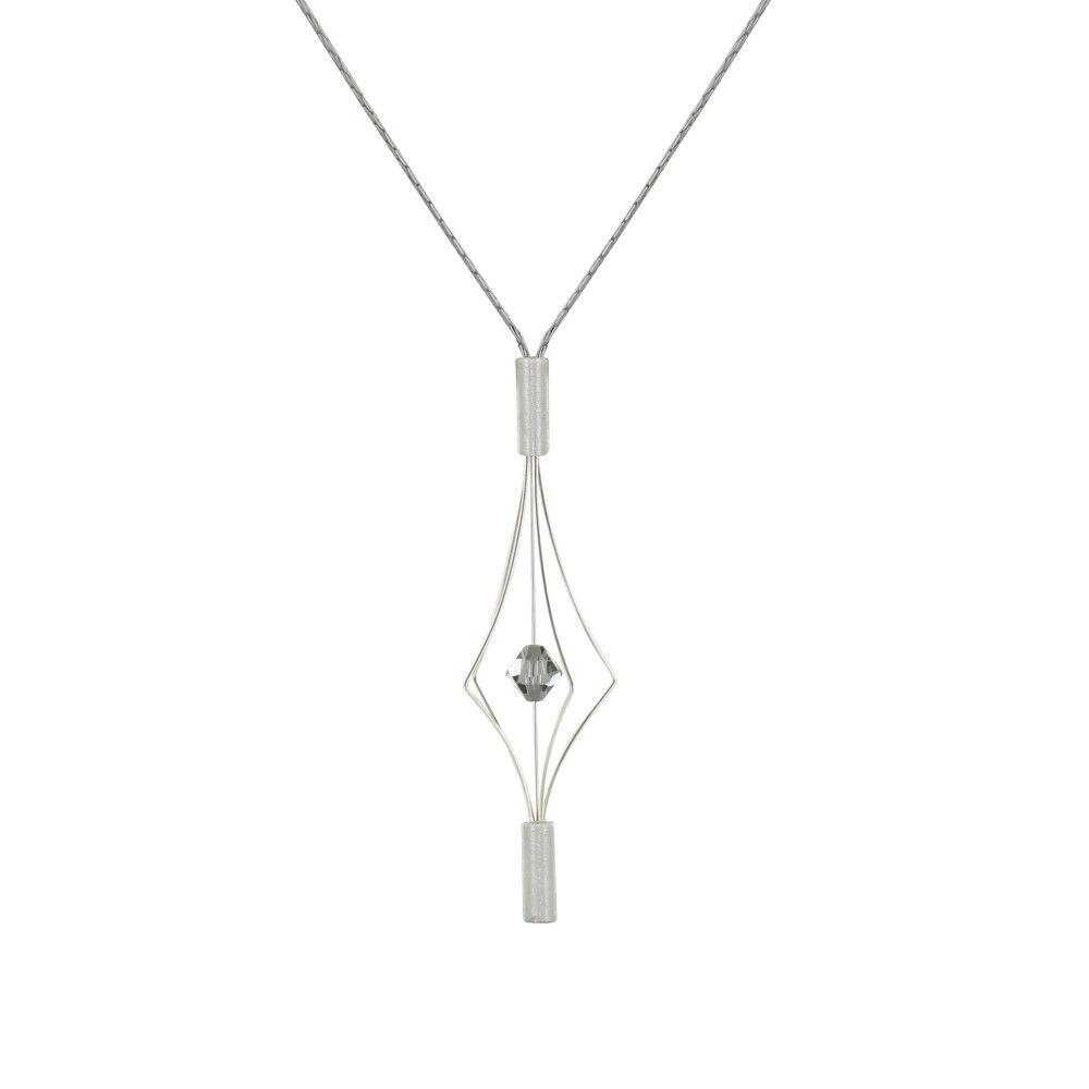 Les Poulettes Bijoux Collier Argent Lanterne et Swarovski - Petit Modèle