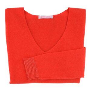 Les Poulettes Bijoux Pull Femme 100% Cachemire Oversize Classics Rouge Corail - taille XL