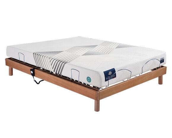 Maliterie.com Ensemble relaxation REVISSIMO + VITAFORM mém. de forme, Finitions: Massif merisier, Dimensions: 140x200cm, Télécommande: Filaire, Confort Vitaform: Confort XL-XL