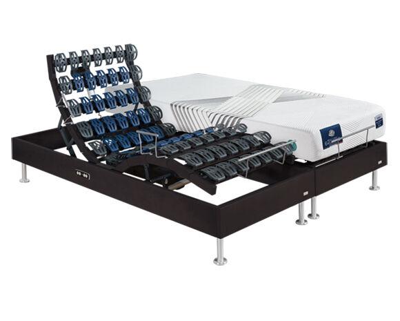 Maliterie.com Ensemble relaxation massif 2 moteurs FELICITY + VITAFORM, Finitions: Massif taupe, Dimensions: 2x80x200cm, Confort Vitaform: Confort S-L