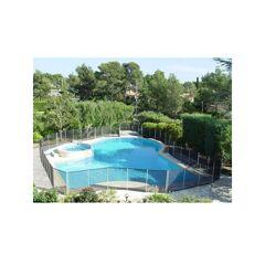 Piscine Sécurité Enfant Barrière piscine Beethoven noire piquets gris anodisés