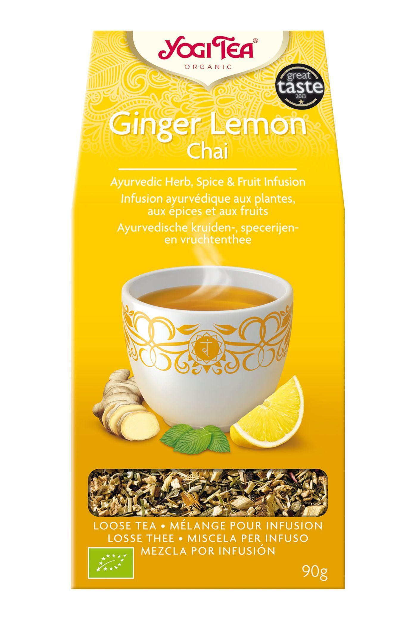 Yogi Tea Gingembre Citron - Chaï sucré et rafraîchissant 90g - Yogi Tea