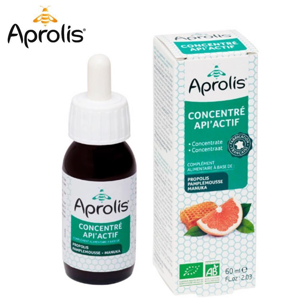 Aprolis Concentré Api'Actif Bio - Propolis Pamplemousse & Eucalyptus 60 ml - Aprolis