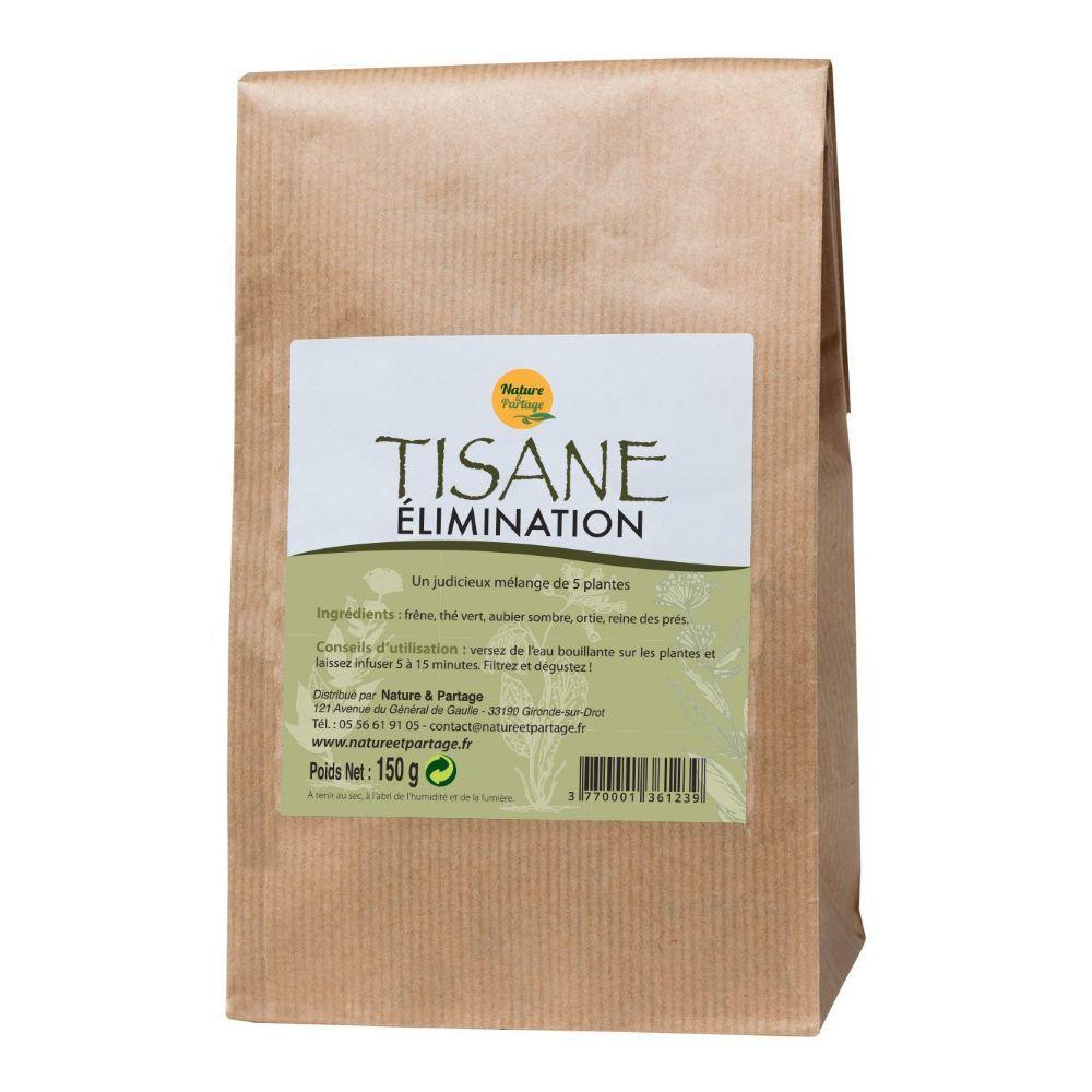 Nature et Partage Tisane Elimination - Tisane 150 grammes - Nature et Partage