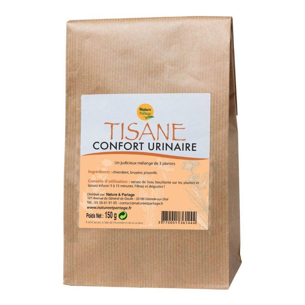 Nature et Partage Tisane Confort urinaire - Tisane 150 grammes - Nature et Partage