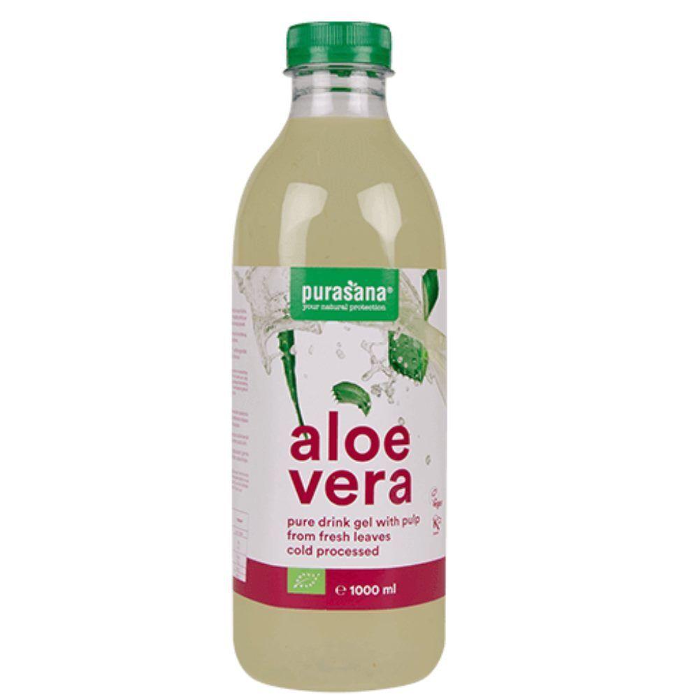 Purasana Aloe vera gel à boire Bio - Digestion & Immunité 1 Litre - Purasana