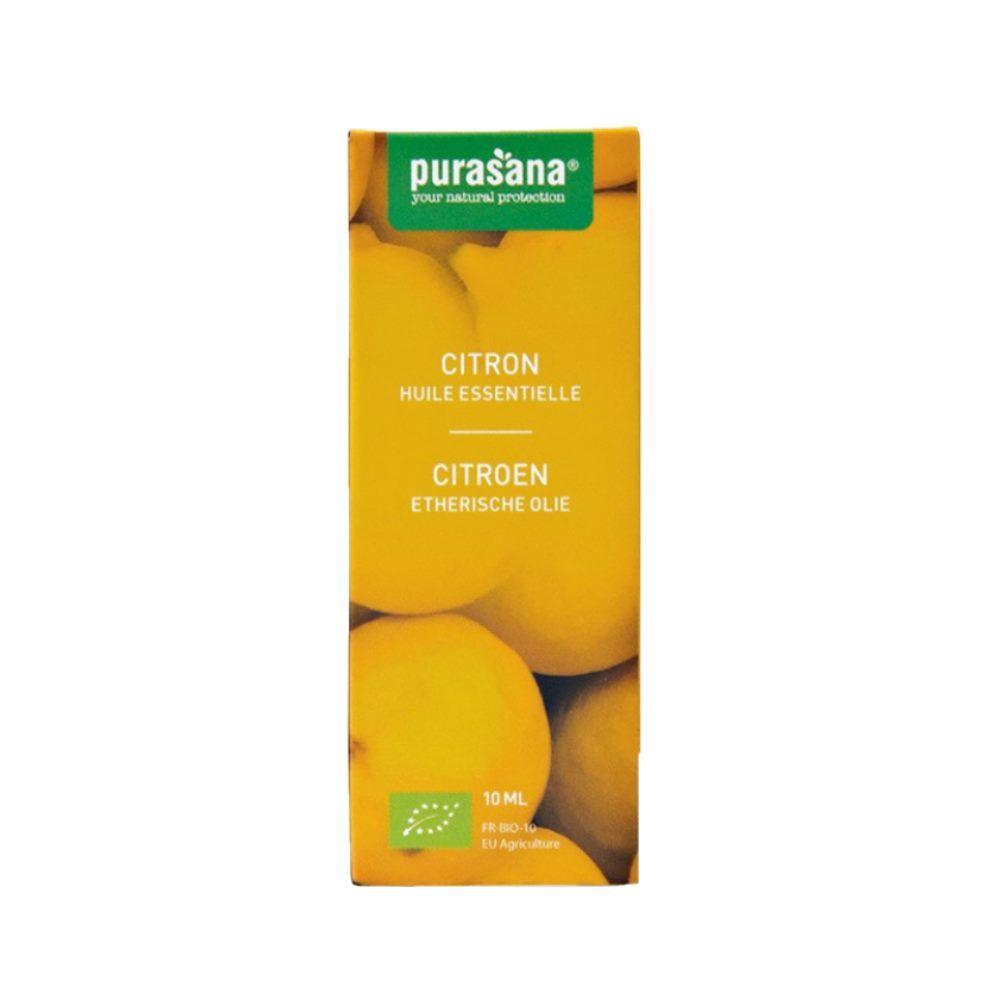 Purasana Citron Bio - Huile essentielle de Citrus limon (L.) Burm. f. 10 ml - Purasana