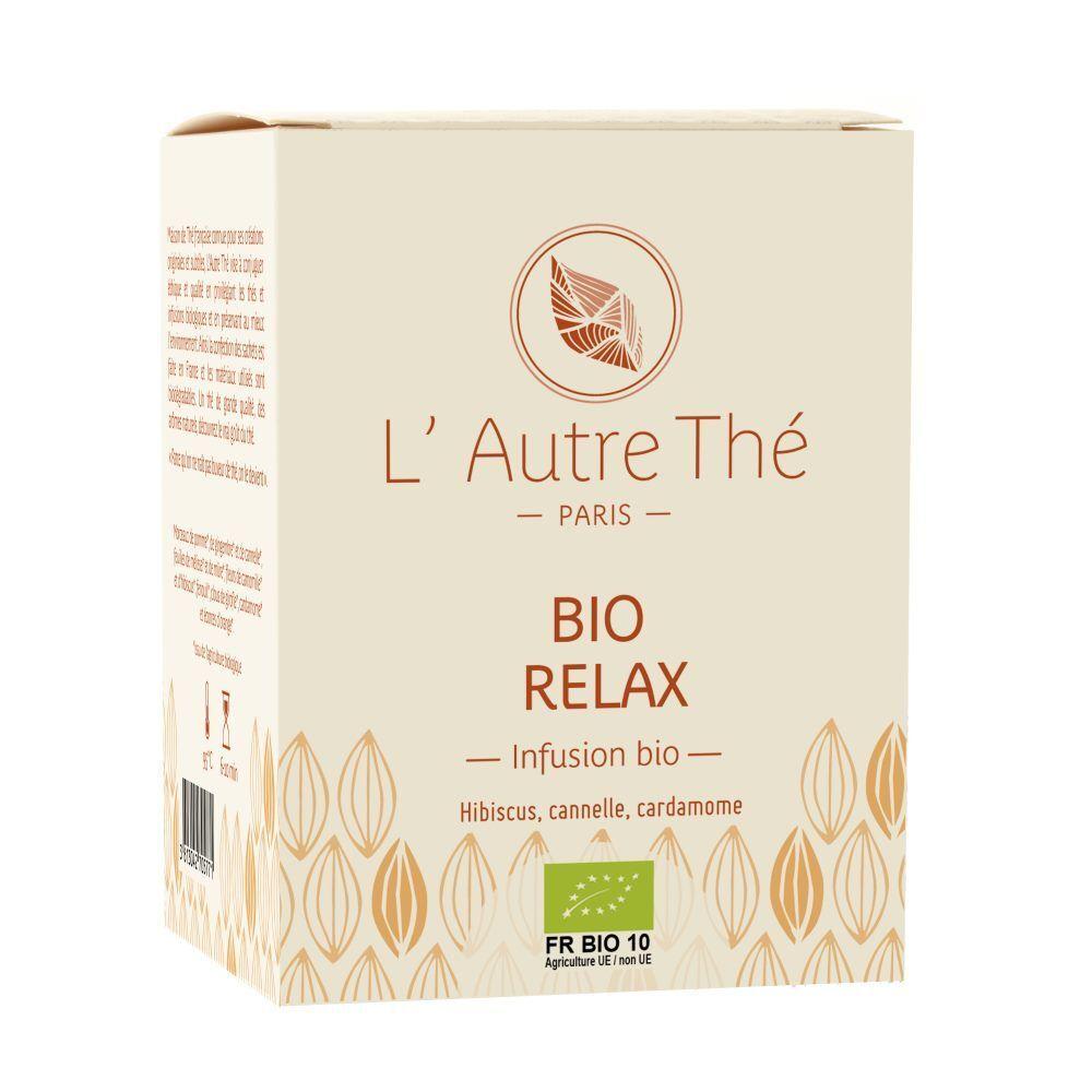 L'Autre Thé Bio Relax - Hibiscus, cannelle et plantes relaxantes 20 sachets pyramide - L'Autre thé
