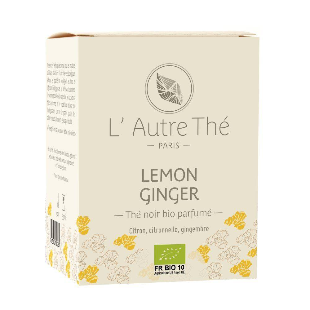 L'Autre Thé Lemon Ginger Bio - Thé noir au citron et au gingembre 20 sachets pyramide - L'Autre thé