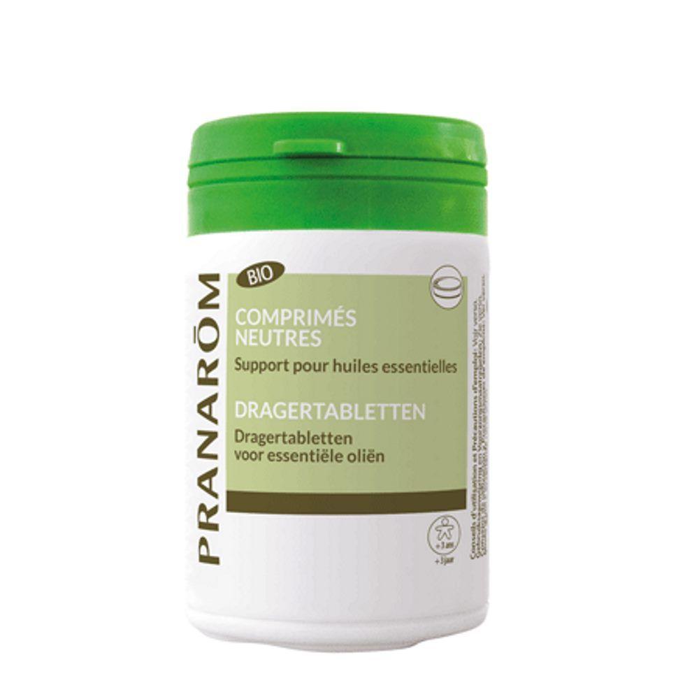 Pranarôm Comprimés neutres Bio - Support des huiles essentielles 30 comprimés - Pranarôm
