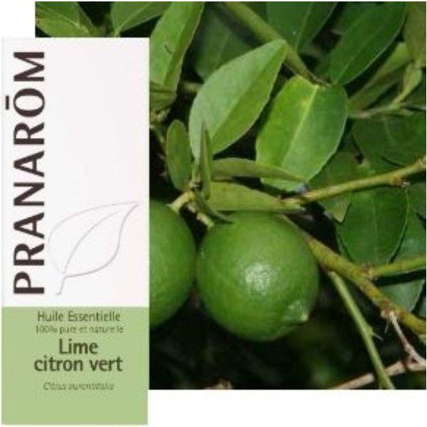 Pranarôm Lime Citron vert - Huile essentielle Citrus aurantifolia 10 ml - Pranarôm