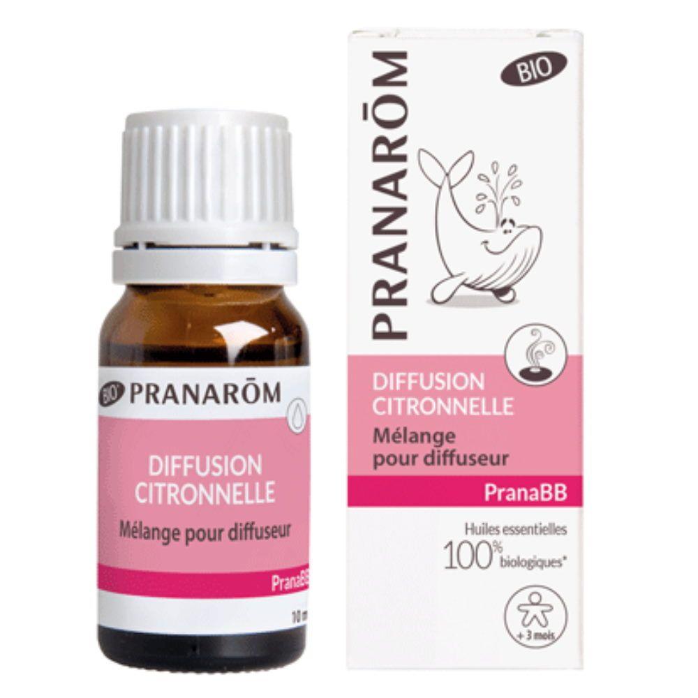 Pranarôm Pranabb Diffusion Citronnelle - Répulsif 10 ml - Pranarôm