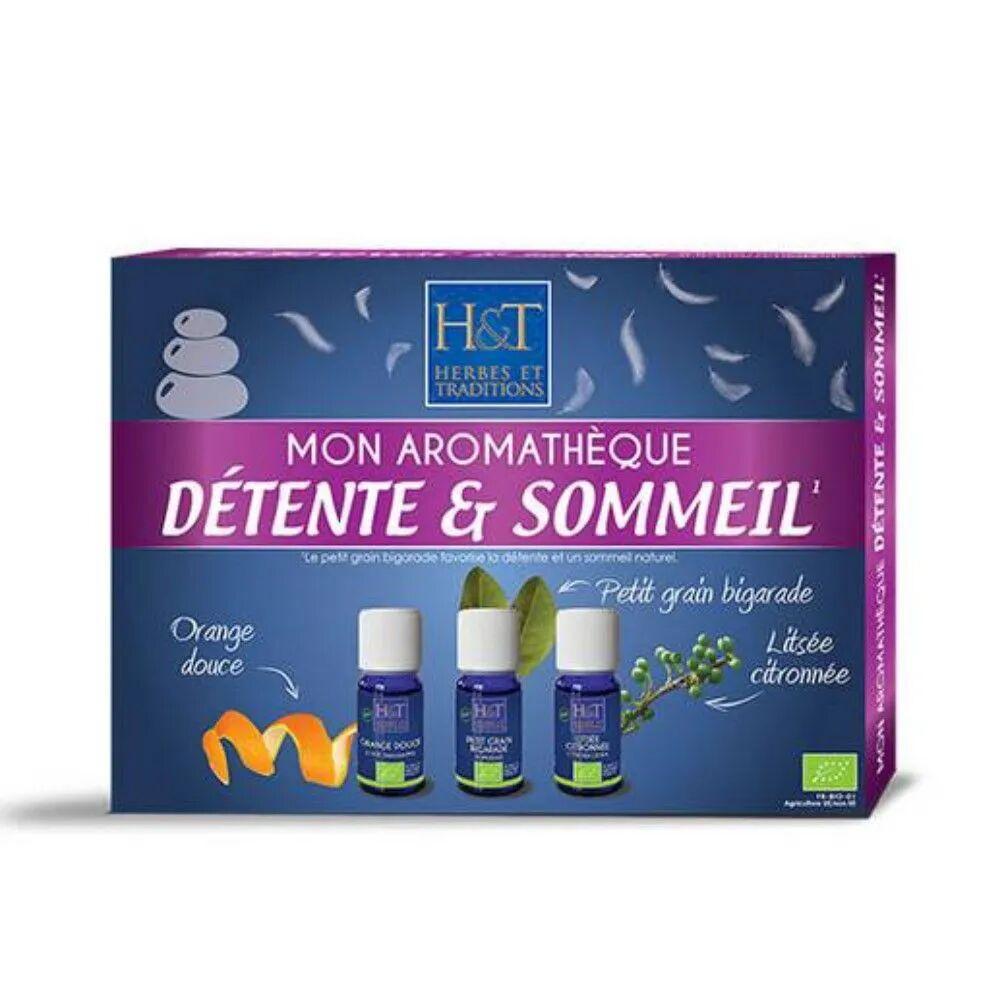 Herbes et Traditions Coffret découverte de l'aromathérapie - Détente & Sommeil 3x10 ml - Herbes et Traditions