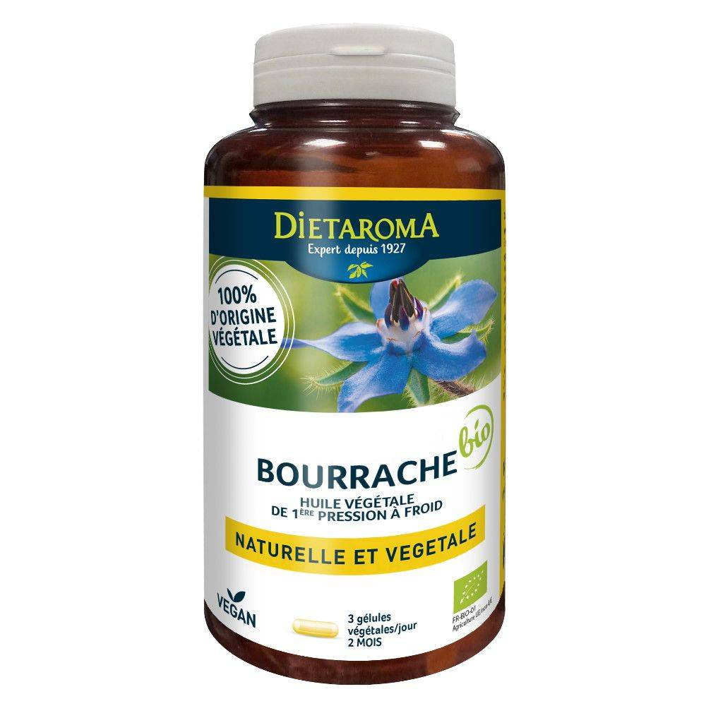 Dietorama Bourrache Bio - Beauté de la Peau 180 capsules - Dietaroma