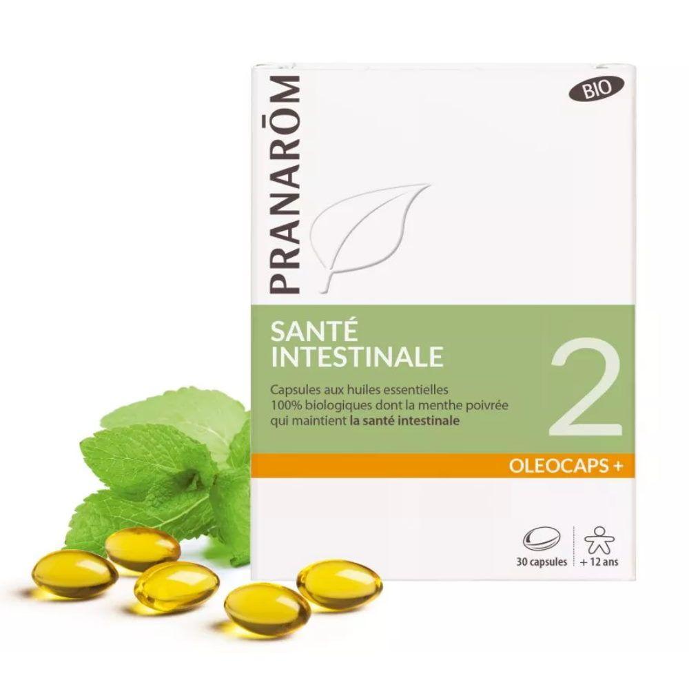 Pranarôm Oléocaps + 2 Bio - Santé intestinale 30 capsules d'huiles essentielles - Pranarôm