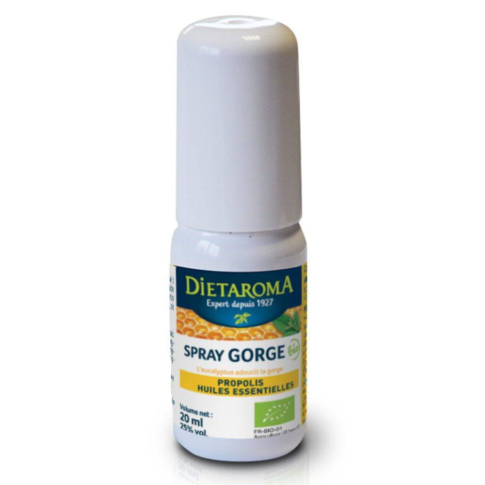 Dietorama Spray gorge Bio - Propolis et Huiles essentielles 20 ml - Dietaroma