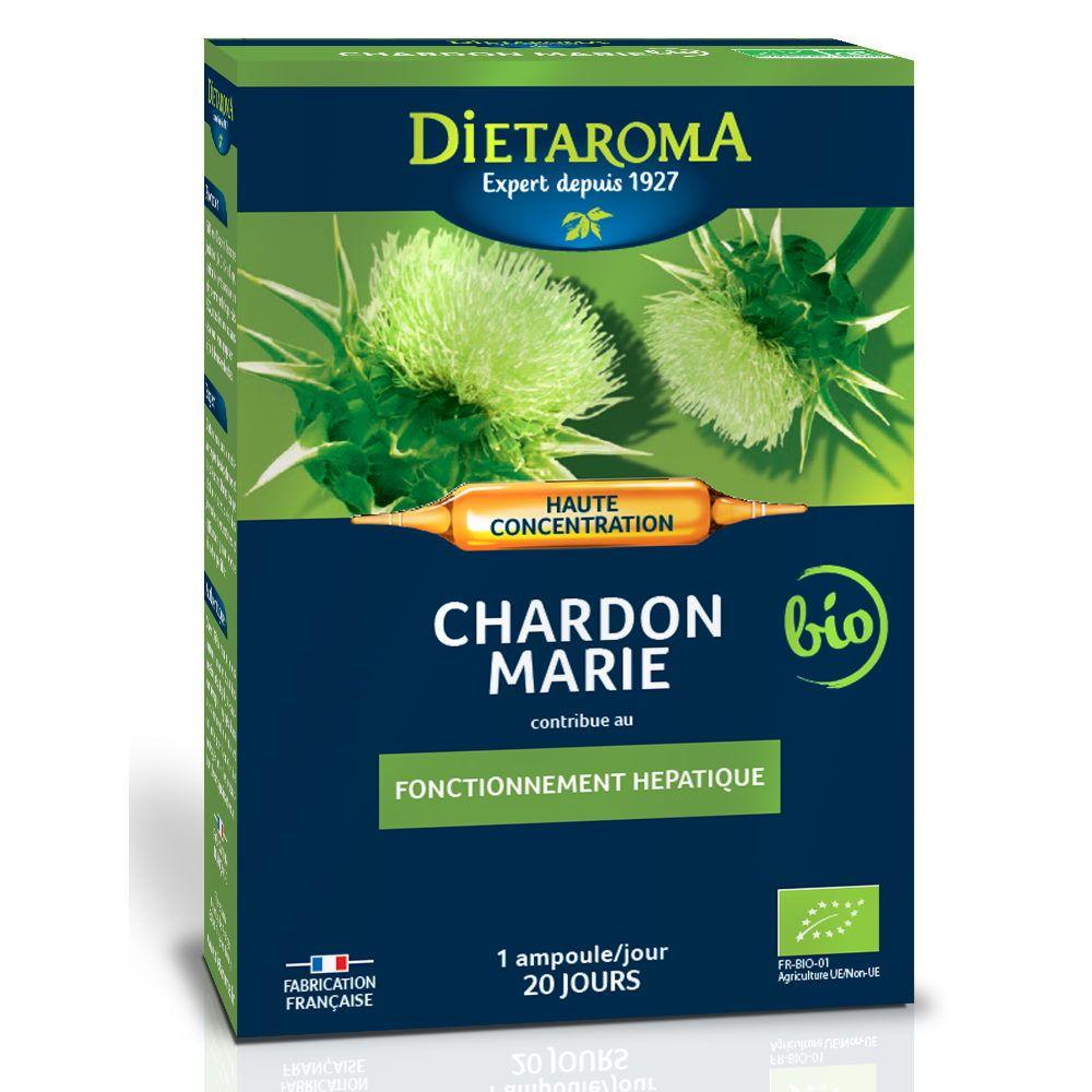 Dietorama C.I.P. Chardon-Marie Bio - Fonctionnement hépatique 20 ampoules - Dietaroma